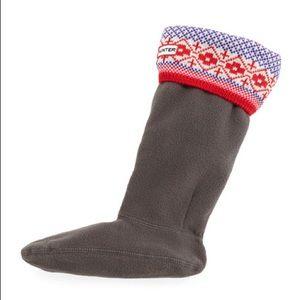 Hunter Fair Isle Snowflake Print Knit Boot Socks